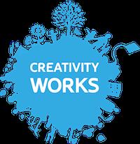 Creativity Works blue