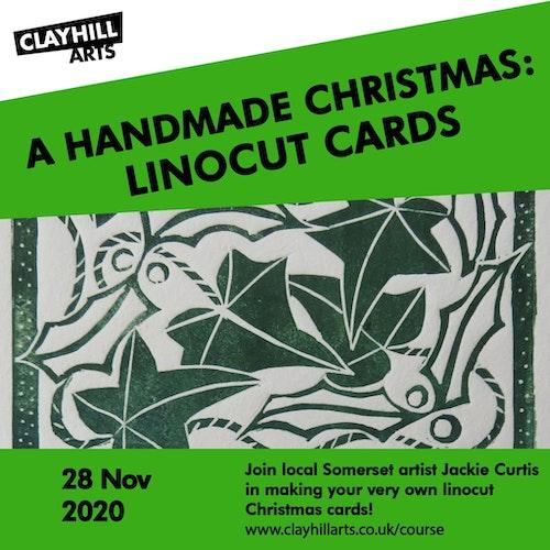 Linocut Christmas Card poster min
