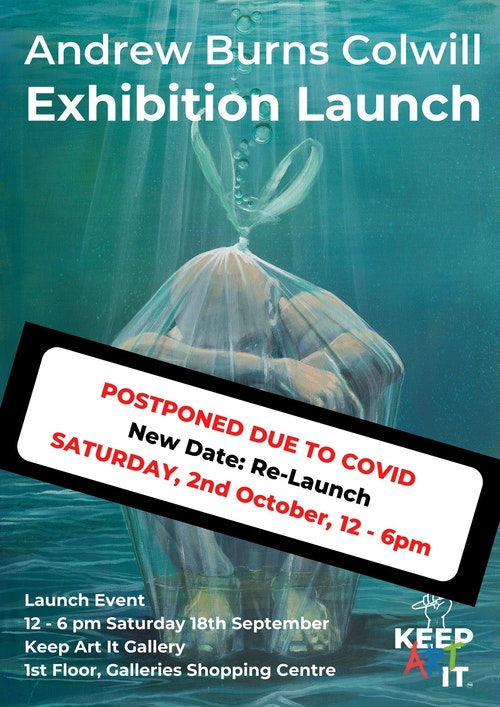 Andrew Burns Poster Flyer postponed