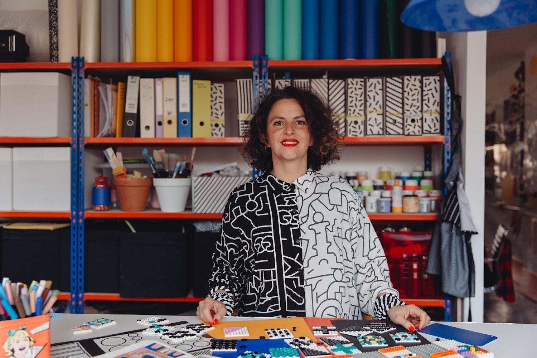 Camille Walala in her studio 2020 Photo by Dunja Opalko R