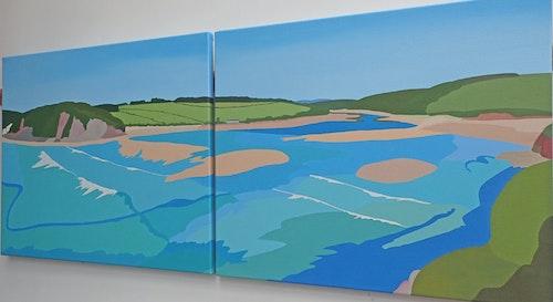 Hazel Strange Erme Estuary Summers Day cropped