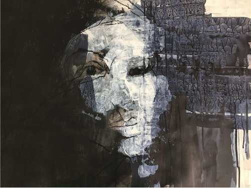 Clare Pumfrey untitled drawing in acrylic and ink low res