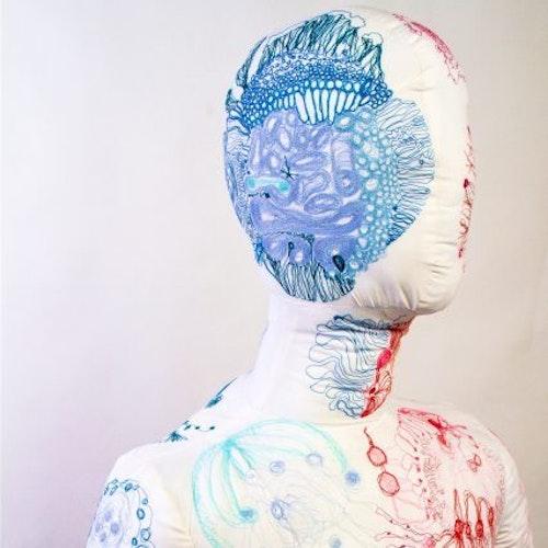Hugger life size stitched scultpture by grazyna wikierska 2020 edited