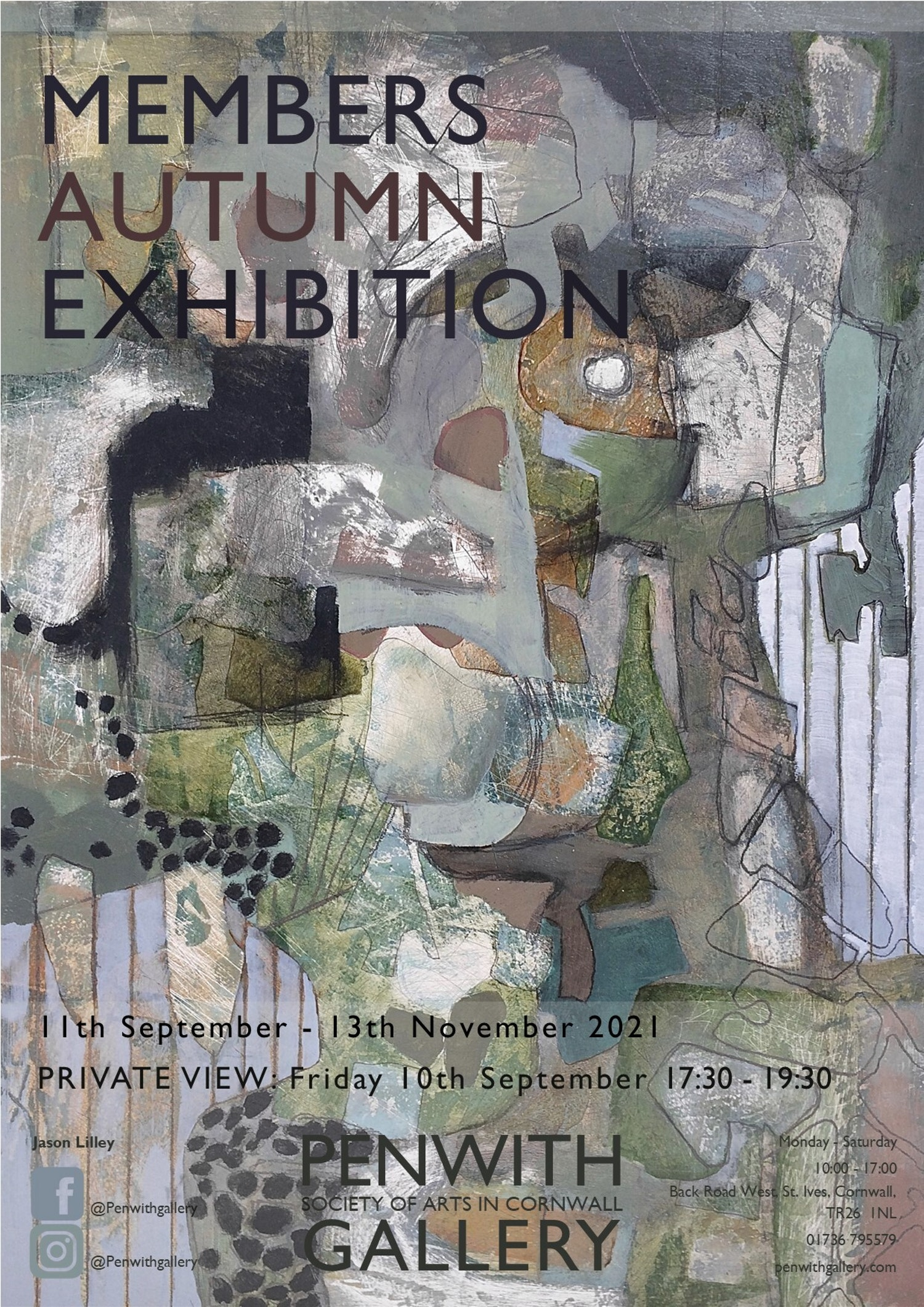 Members Exhibition 3 Autumn 2021 poster