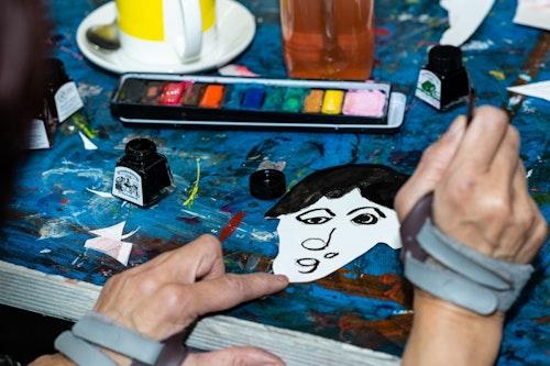 Tea cake and art