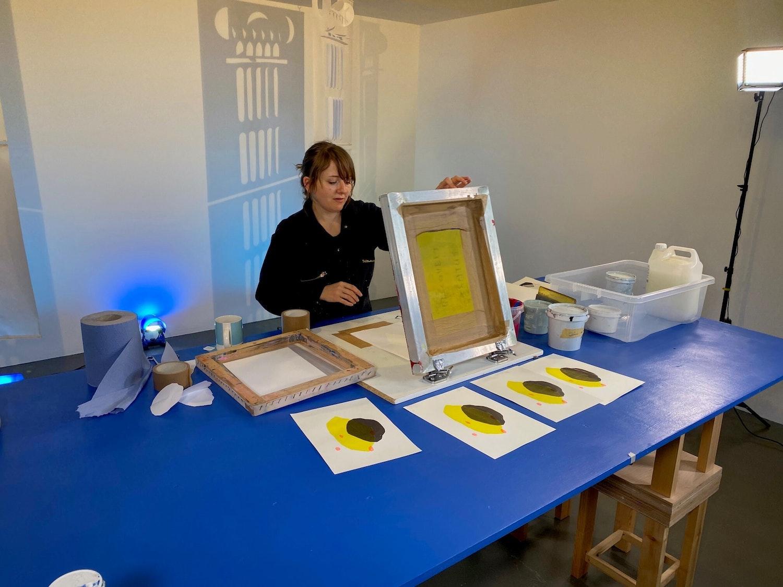 Alice Mahony Screen Printing POC workshop