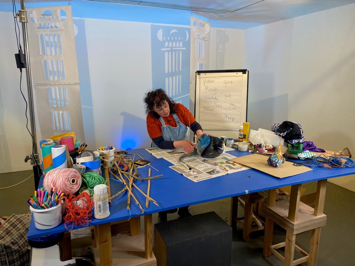 Sovay Berriman sculptural sketching with found objects workshop pics